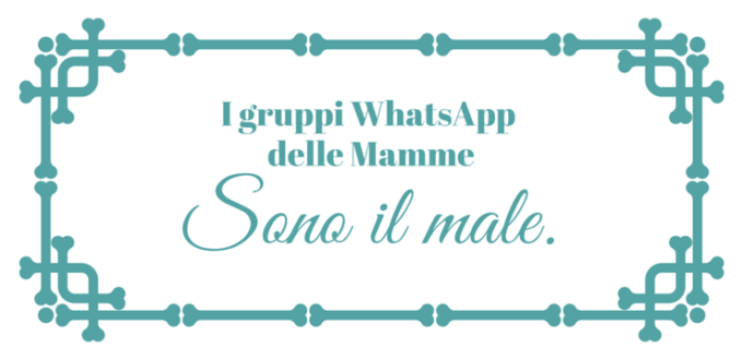 I gruppi WhatsApp delle Mamme